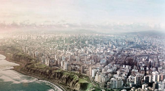Lima, Peru Skyline Cityscape Wallpaper