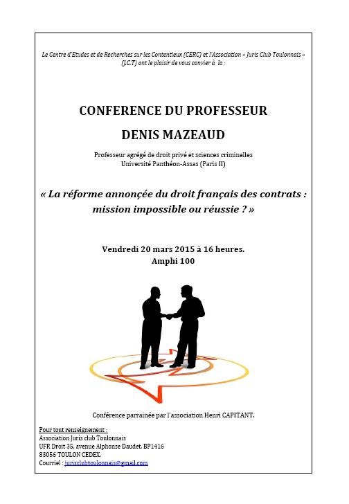 conférence denis mazeaud