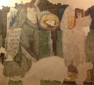 Le Christ et saint Jean Baptiste (début XIVe s.) - Sofia, Alexander Nevski Museum.