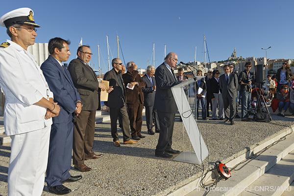 projet Protis, inauguration, mise à l'eau, lancement du Gyptis