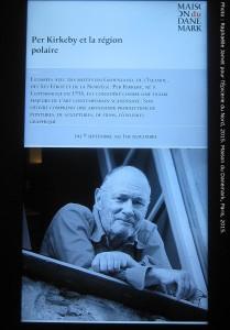 Panneau lumineux de présentation de Per Kirkeby, Maison du Danemark, 2015.