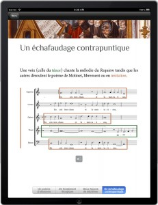 Nymphes des Bois – capture d'écran de l'application iPad