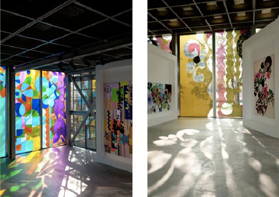 Milhazes Fondation Cartier vitres