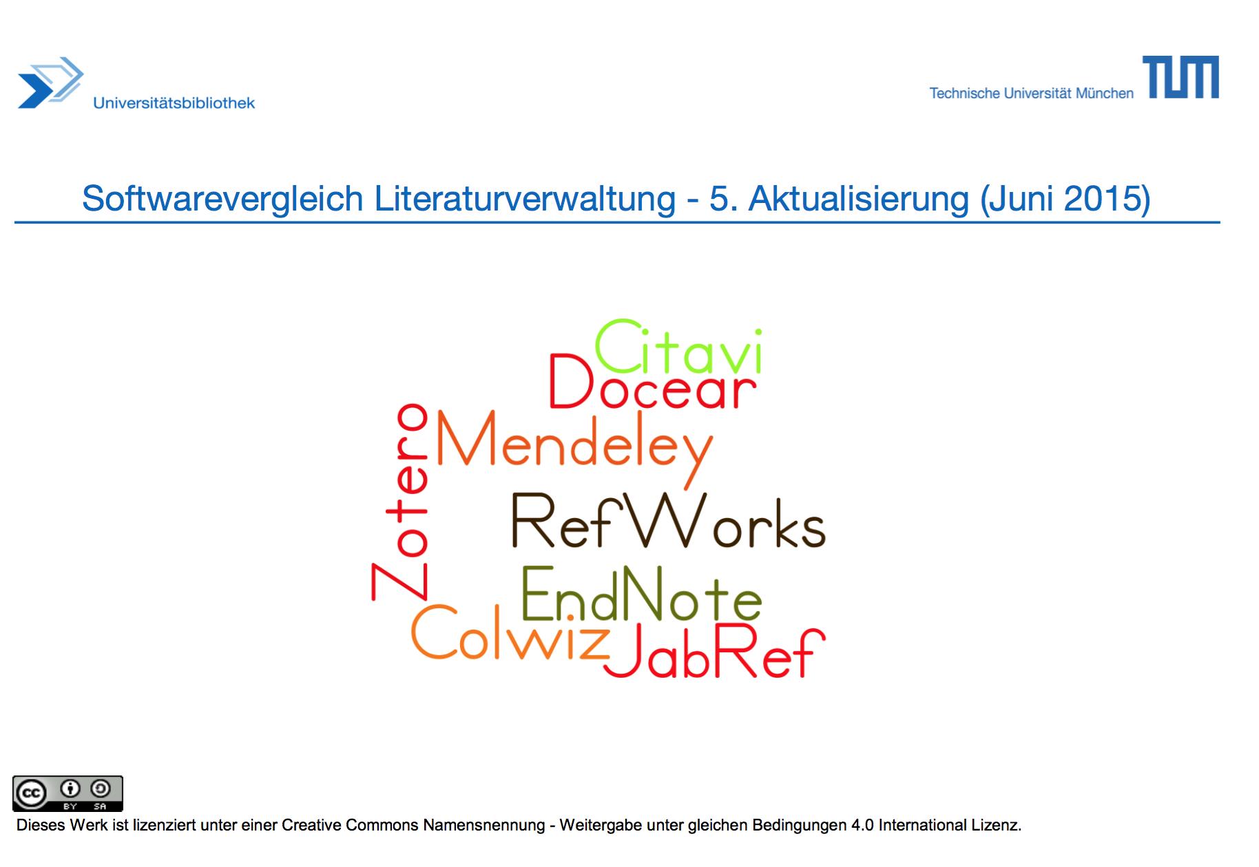 Literaturverwaltung – Übersicht