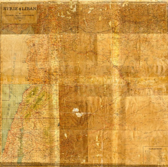 Carte Syrie-Liban de 1939, après restauration