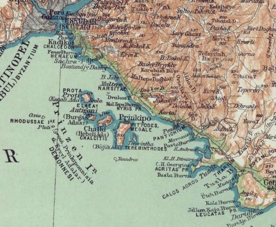 Kiepert, carte de l'Anatolie (PO-19-10), detail avec toponymes