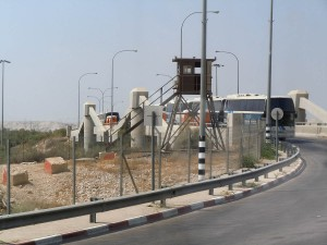 Pont Allenby, frontière ente  entre la Cisjordanie occupée et la Jordanie