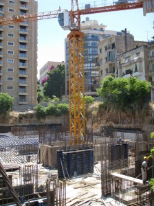 Chantier à Beyrouth (Photo J. Baldi)