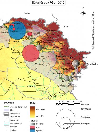 Fig. 2 : Réfugiés au Kurdustan d'Irak en 2012 (@ C. Roussel Ifpo)