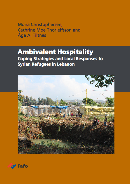 Couverture du rapport Fafo Ambivalent Hospitality. Coping Strategies and Local Responses to Syrian Refugees in Lebanon