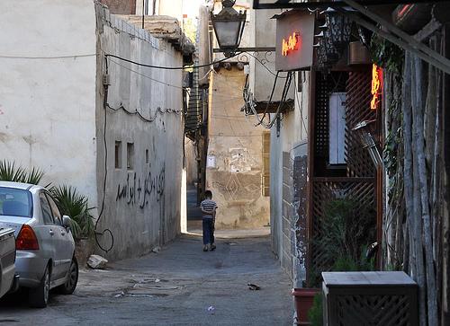 Une ruelle de Damas, vue de Bab Sharqi.