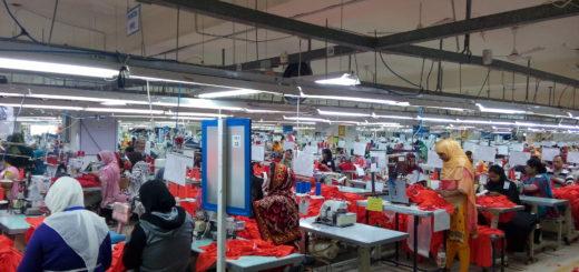 Usine de confection de vêtements dans la zone industrielle d'al-Tajamoat, Taher Labadi (décembre 2018)