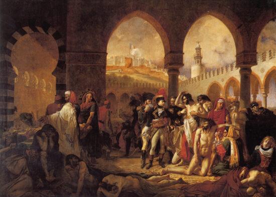 Fig. 1. Bonaparte visiting the plague victims of Jaffa. A.-J. Gros, 1804, the Louvre Museum, Paris. https://en.wikipedia.org/wiki/Bonaparte_Visiting_the_Plague_Victims_of_Jaffa#/media/File:Antoine-Jean_Gros_-_Bonaparte_visitant_les_pestif%C3%A9r%C3%A9s_de_Jaffa.jpg