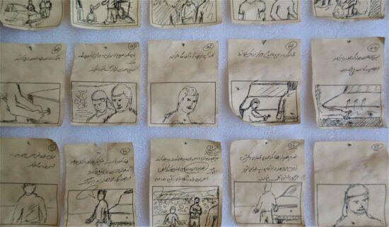 StoryStory-board du court métrage Argon-2-board du court métrage Argon réalisé et produit par Shoresh Vakili, réalisé à Sanandaj (Iran) en 2019 (2). Ph. Pauline Tucoulet 2019.