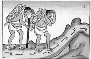 Pochtecas. Códice Florentino, Mediateca del INAH
