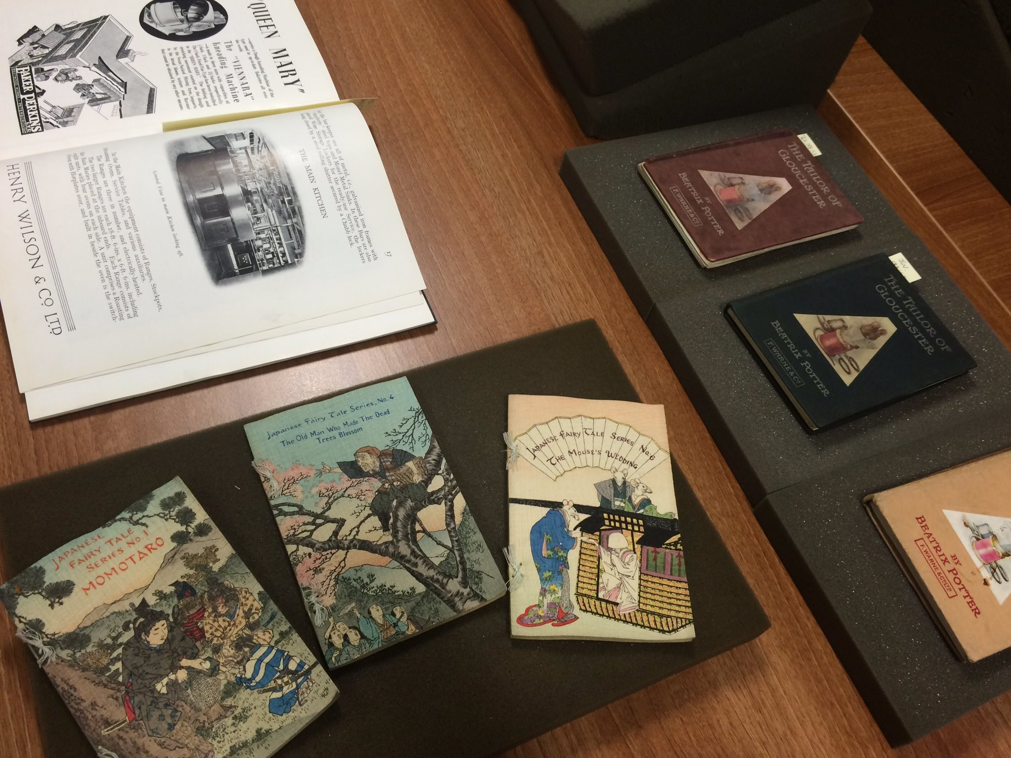 Margins and mainstream books display at the University of Liverpool Special Collections and Archives