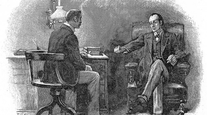S._Holmes_and_Watson_in_Watson's_consulting_room_Wellcome_L0015282