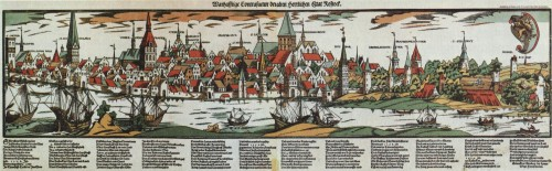Hans Weigel, View of Rostock, c. 1550/60