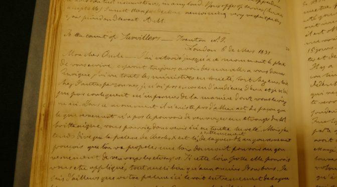 La correspondance d'Achille Murat, entre ambitions italiennes et citoyenneté américaine