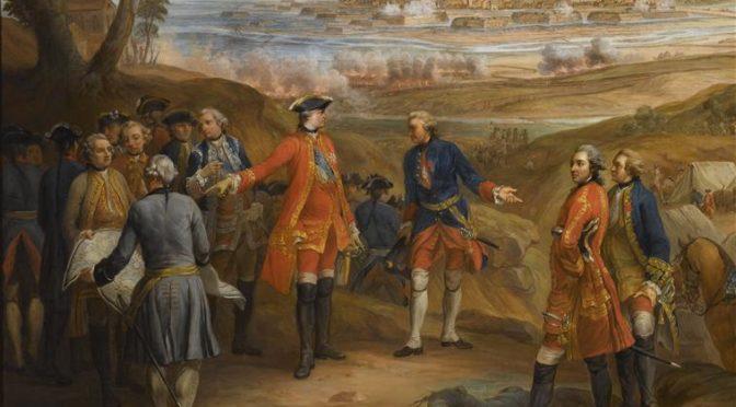 Louis XV sur le front de la Guerre de Succession d'Autriche