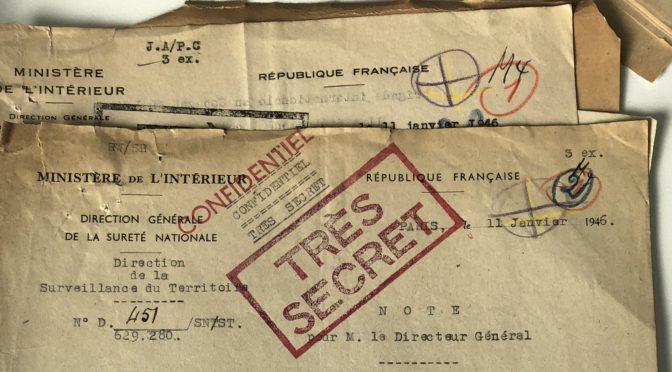 Les archives de la DST aux Archives nationales, l'enjeu très actuel des archives secrètes de la Seconde Guerre mondiale