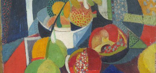 Ángel Zárraga (1886-1946),  Still life with Pomegranates, 1914,  Oil on canvas, Photo courtesy of Kaluz Collection