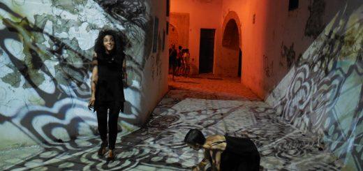 "International Light Art Project of Tunis ""Interference"" (Photo: Anne-Linda Amira Augustin)"