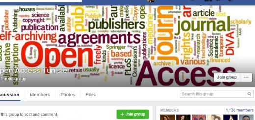 Facebook Group 'Open Access Tunisie'