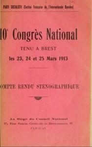 Le compte-rendu sténographique du congrès de 1913 est la source essentielle sur ce évènement. Photo DR, coll.particulière.