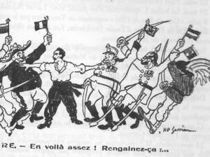 Extrait de la Une de l'Humanité, 17 novembre 1912