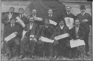 les délégués au 1er congrès des jeunesses syndicalistes de l'Ouest, 1912. (photo DR)