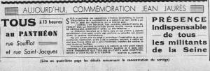extrait de la Une du Popualire, 30 juillet 1939