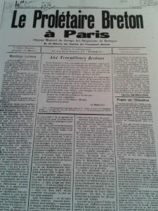Le Prolétaire breton de Paris, 1er avril 1914
