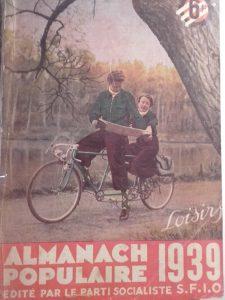 """Almanach populaire 1939, où l'on trouve le texte """" Militantes"""" de ML Lévy"""