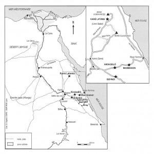 Fig 1. Le désert Oriental sous le Haut Empire romain.