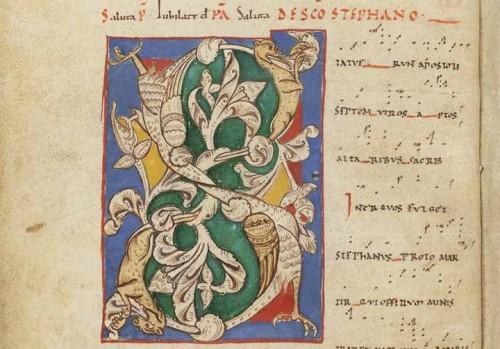 Le tropaire de Moissac, BnF, Département des manuscrits, NAL 1871, f. 5v.