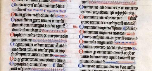 Papias, Elementarium doctrinæ rudimentum, milieu du 3e quart du XIIIe siècle. Valenciennes, BM, ms. 396, f. 209.