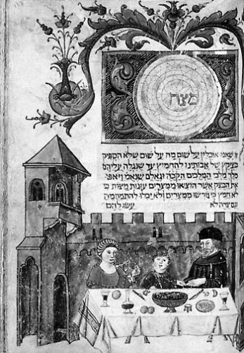 Illustration 9 : Haggadah de Pâques Italie, 1520. Paris, Bibliothèque nationale, Smith-Lesouef 250. f. 118.