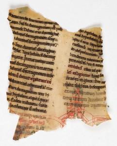 Fragment de la liasse 478 = fragment retrouvé du ms. 498 (XIIe s., 1140-1150), f. 133: exemplaire (autographe ?) de l'Heptateuchon de Thierry de Chartres, légué par l'auteur à la bibliothèque cathédrale.