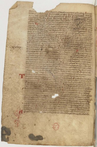 Recueil franciscain (1235-1260 ). BnF, Départ. des Mss, NAL 3245, f. 122v.