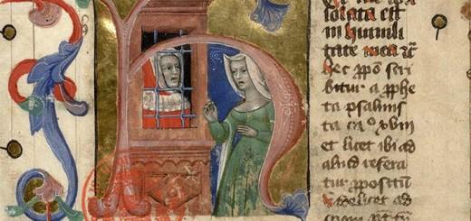 Boèce en prison et  philosophie, Paris, Bibl. Mazarine, ms. 3859, f.1.