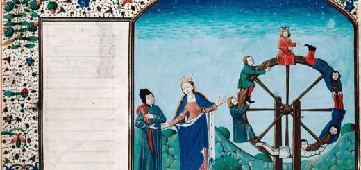Boèce, Philosophie et Fortune, Rouen, BM, ms. 3045, f. 022v