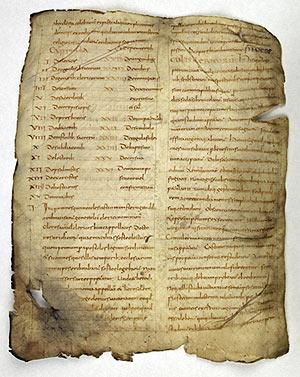 Image 1 : Chartres, Bibl. mun., 31 (IXe s.) Recueil d'ouvrages patristiques