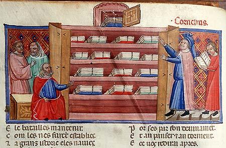 Benoît de Sainte-More, Roman de Troie, Italie (Bologne ?), début du XIVe s. Paris, BnF, ms. fr. 782, f. 2v.