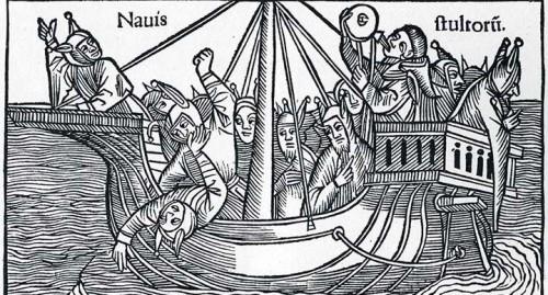 Salutifera [sic pour Stultifera] navis [per Sebastianum Brant, trad. per Jacobum Locher], [Lugduni], J. Zachoni de Romano, 1488 [sic pour 1498], f. [1] recto (HC 3752).