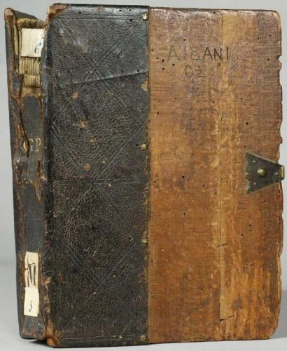 Plat supérieur et dos, Orléans, BM, ms. 6.