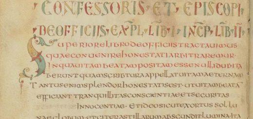 Figure 4: Scriptio continua écrite en onciale (ms. Paris, BnF, latin 1732, fol. 41v).