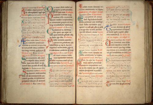 Cambrai, Bibl. mun., ms. 27. Collectaire de Cambrai. Cambrai, avant 1173.