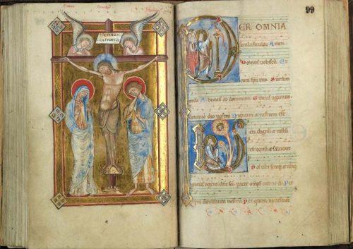 Le Buisson ardent. Douai, BM, ms. 90, t. II, f. 99.