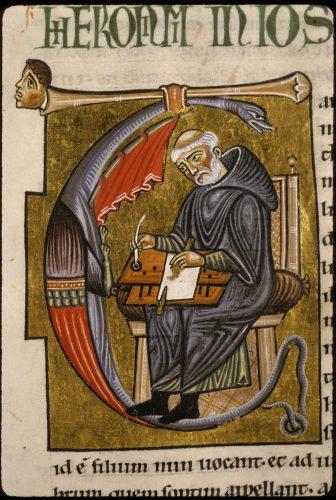 Saint Jérôme écrivant, Lyon, BM, 410 (337), f. 79.